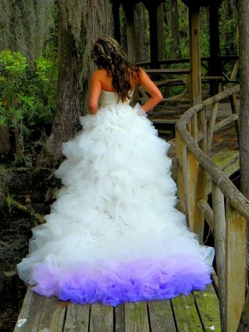 10 Dip Dyed Wedding Dress Ideas That Will Add A Burst Of Color To Your Big Day